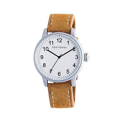 tokyobay-t626-tan-da-uomo-in-acciaio-inox-in-pelle-band-quadrante-bianco-smart-watch