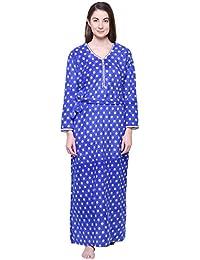 6c2d1d45da Secret Wish Women's Printed Nighty Cotton Nighty/Nightwear/Multicolor  Nighty NT-E122_$