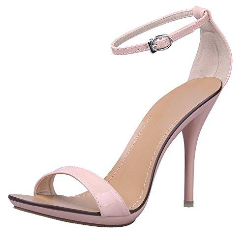 Ruaye Vogue - Sandali col tacco alto a spillo, in 7colori, rosa (Nude pink), 38 EU