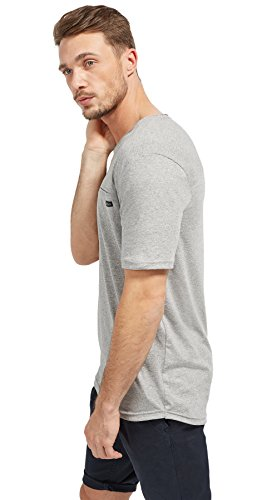 Tom Tailor für Männer T-Shirt T-Shirt in Melange-Optik middle grey melange