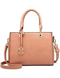 e957c88e9f02 Miss Lulu female Pu Leather Bags Top Handle Handbags Office Lady Shoulder  Bags for Women