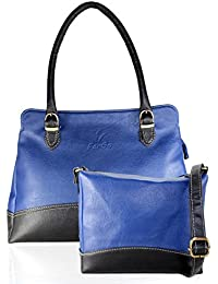 Fargo Couthy PU Leather Women's & Girl's Shoulder Handbag & Sling Bag Combo Of 2 (Blue,Black_FGO-062)