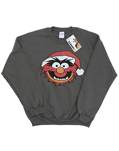 Disney Uomo The Muppets Animal Christmas Felpa Carbone