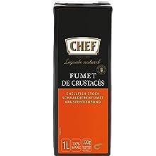 CHEF Signatur Fond Krustentier, Flüssig, 100% Natürliche Zutaten, Servierfertig, 1er Pack (1 x 1L)