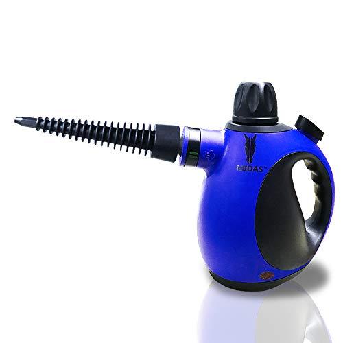 Midas Upgrade Dampfreiniger - große kapazitäten handheld unter druck 9-piece dampf sauberer mit zubehör für stain removal, teppiche, vorhänge, bettwanzen - kontrolle, kindersitze (Original)