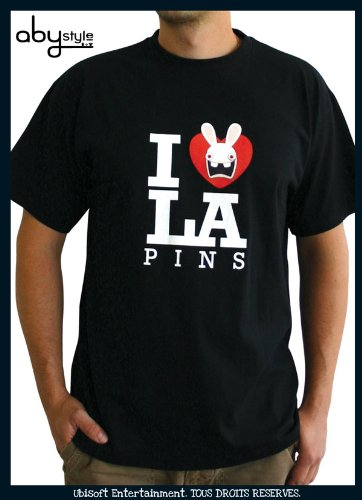 AbyStyle abystyleabytex102_ gd-l Abysse Cretins Love Lapin kurzen Ärmeln Mann Basic T-Shirt (groß)