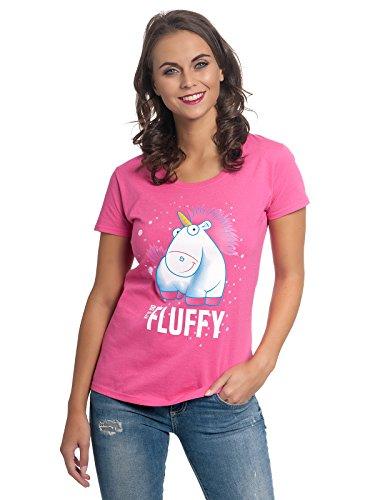 Minions Einhorn - It's So Fluffy Bubbles Camiseta Mujer Rosa XL