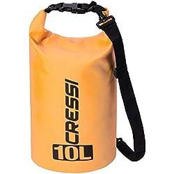 Cressi - Sub S.p.A. Sac Étanche avec longue bandoulière réglable - Mixte Adulte - Orange (Orange/Standard) - 20 L