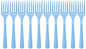Amscan International Amscan 552290-108 - Tenedores de plástico (10 unidades), color azul pastel
