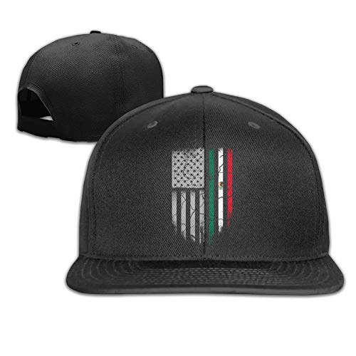 7748eaec408 Zmacppm Mexican American Flag Classic falt Hat Adjustable Baseball Cap