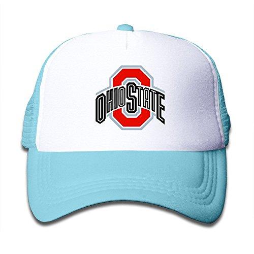 XCarmen Funny Osu Ohio State Buckeyes Logo Kids Baseball Snapback Caps Hat Boys Girls Adjustable One Size By JE9WZ Skyblue (Buckeyes Hat Kids)
