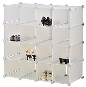 Top home solutions porta scarpe a cubi per 16 paia for Top cucina amazon