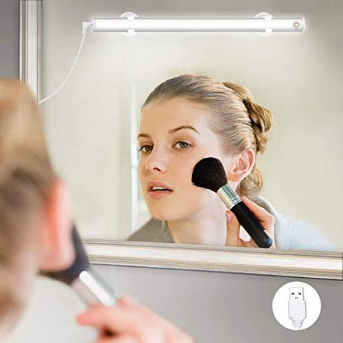 Elfeland LED Spiegelleuchte Make-up Licht Spiegellampe Schminklicht Schminkleuchte Tageslichtlampe LED-Lichtleiste Schrankleuchte (USB Dimmbar 6500k 6W Weiß) für Badezimmer Schrank Küche