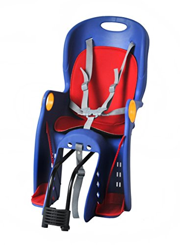 Iso Trade Kinderfahrradsitz Fahrradsitz Sicherheitssitz Fahrrad Kindersitz + Halterung 1623, Farbe:Blau