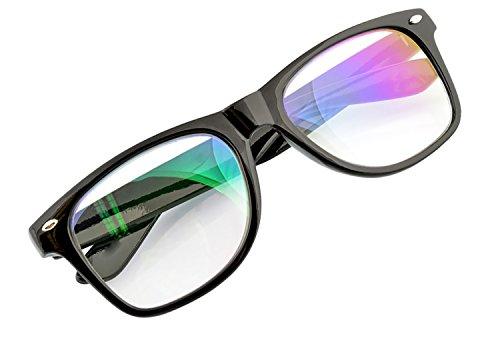 Hombre Mujere Retro Anti Reflejante Gafas Blue Light Filter Clear Lens Computer,...