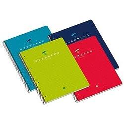 Guerrero 048382 - Cuaderno tamaño cuarto, doble raya, 80 hojas