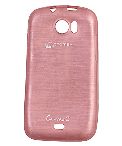 iCandy™ Soft TPU Shiny Back Cover For Micromax Canvas 2 A110 / Canvas 2 Plus A110Q - Pink  available at amazon for Rs.160