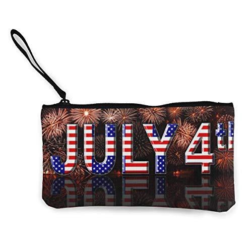 Canvas Wristlets American 4. Juli Segen Geldbörsen Brieftasche Geldbeutel Schminktasche Handytasche -