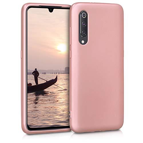 kwmobile Funda para Xiaomi Mi 9 - Carcasa para móvil en TPU Silicona - Protector Trasero en Oro Rosa Metalizado