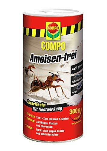 COMPO Ameisen-frei, Staubfreies Ködergranulat mit Nestwirkung, 300 g