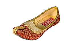 shahi Kids Designer Mahroon Punjabi Jutti | Traditional Wedding Mojari Kids | Stylish Partywear Ethnic Footwear (SPF-2001)
