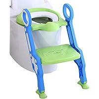 BUZIFU Toilettentensitz kinder WC Sitz T/öpfchen Training Sitze f/ür Kleinkinder,und Jungen M/ädchen Runde oder ovalen Toiletten wei/ß