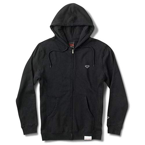 Diamond Supply Co. Micro Brilliant Zip Hoodie Black Diamond Zip Hoodie