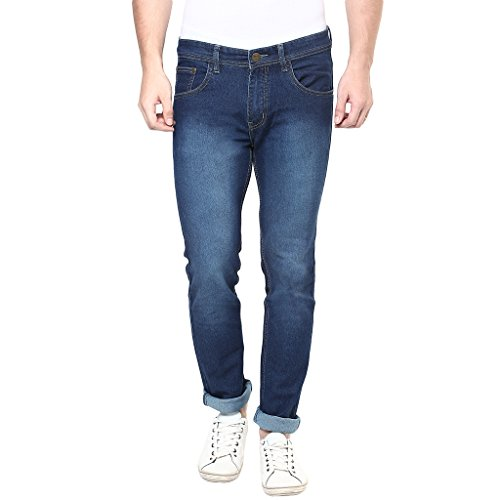 Stylox Mens Medium Blue Skinny Fit Jeans  available at amazon for Rs.479