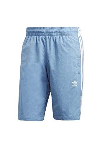 adidas Herren 3-Stripes Badeshorts Ash Blue
