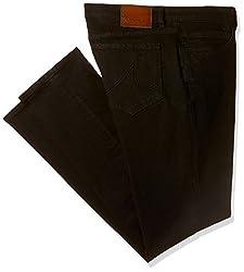 Arrow Jeans Mens Straight Fit Jeans (AJVJN2753_Black_34W x 34L)