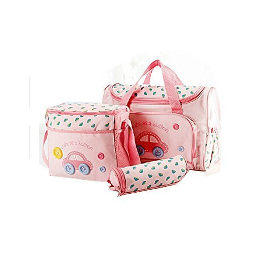 Preisvergleich Produktbild Yummy Mummy Stylish Nursery Changing Bag Colour cartoon car - Includes Travel Changing Mat Cupcake Design Luxury Baby Bag (Pink) by NA