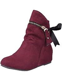 Logobeing Botas de Mujer Heighten con Cordones Martin Boots Cremallera Botas Clásicas de Tobillo Casual Botines Mujer Tacon Invierno Planos