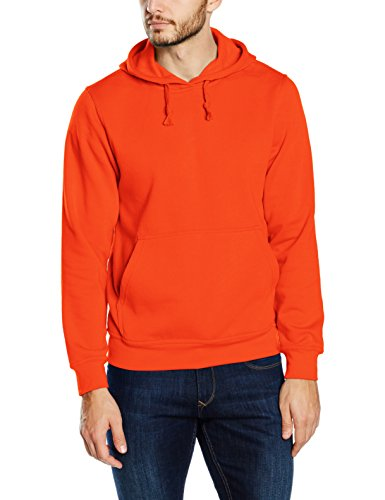 Clique Herren Kapuzenpullover Basic Orange (blood Orange)