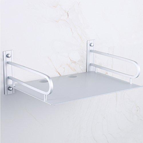 Yxsd Raum Aluminium Set-top Box Silber Weiß Wandbehang Rack Wohnzimmer Telefon Regal Bohren, 375 * 250 * 140mm (Wandbehang-quilt-rack)