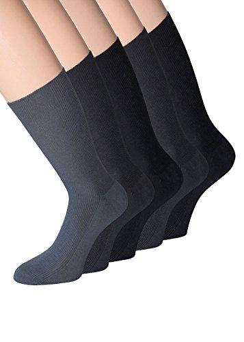 Diabetiker Socken herren ohne gummibund (43-46, 10 Paar grau/dunkelgrau) (Diabetiker-socken Für Männer)