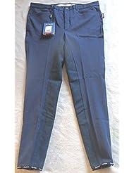 equiline Equitación para hombre, modelo benmark, completo ribete, Azul, Talla 54(A1)