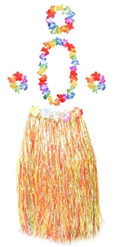 Wooly Bugged Hawaii Party Kostüm Set mit Blumen 5 Stück ()