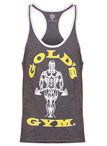 Gold's Gym, Muscle Joe Contrast Vest, Tank Top, Herren, Grau, S -