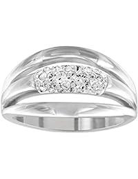 Swarovski – Anillo de mujer rodio cristal transparente – 512416