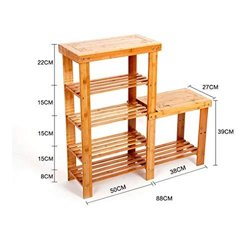 JHUEN Nanzhu ablage Lagerung Stuhl einfach zu speichern mehrstö ckigen Rack Bambus tragen kaminofen Schrank (grö ß e : #2)