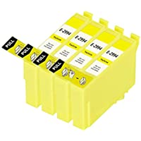 King of Flash High Quality Compatible [4 Yellow] Epson 29XL Ink Cartridges For Epson Expression Home XP-235, XP-245, XP-332, XP-335, XP-342, XP-432, XP-435, XP-442, XP-445, XP-247, XP-345 High Capacity Ink Cartridges