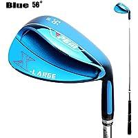 PGM Golf Cuña de Golf de Mano Derecha para Hombres cuña de Arena de Golf Golf Sand Club (Azul / 56 °)