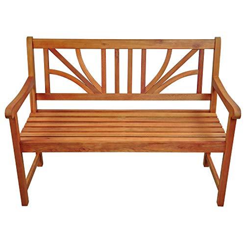 """Indoba Gartenbank, 2-Sitzer """"Lotus"""" – Serie Lotus, braun, 120 x 61 x 88 cm, IND-70103-GB2 - 2"""