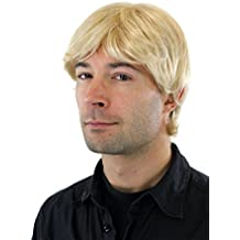 WIG ME UP ® - Peluca masculina, cardado, rubio-rubio platino, pelo corto, con raya GFW355A-613E