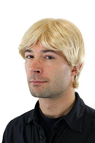 WIG ME UP ® - GFW355A-613E Männer-Perücke Toupet blond platinblond kurzhaarig Scheitel (Blonde Perücken Für Männer)