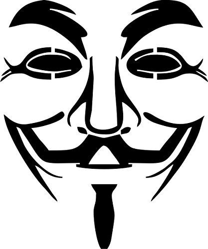 KFZ-Aufkleber, Motiv: Anonymous Maske, Vinyl