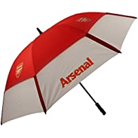 ARSENAL FC TOURVENT DOUBLE-CANOPY GOLF UMBRELLA. RED / WHITE