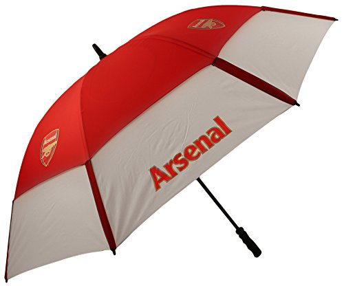 Arsenal FC tourvent double-canopy Golf Regenschirm. Rot/Weiß (Golf Double Regenschirm Canopy)