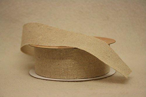 Natürliche Leinen 32mmx10m Ausgefranst Rand Band p904 - Toll für kleine Ausstellungen oder Geschenke - Großartig für ein Blumengesteck - Rustikal - ausgefranste Ecken