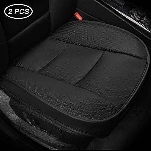 Luollove coprisedili auto universale anteriori, super soft confortevoli traspirante pu protezione per sedile auto ((2 pezzi nero)